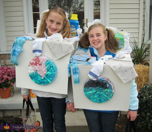 Wishy Washers - Homemade costumes for girls