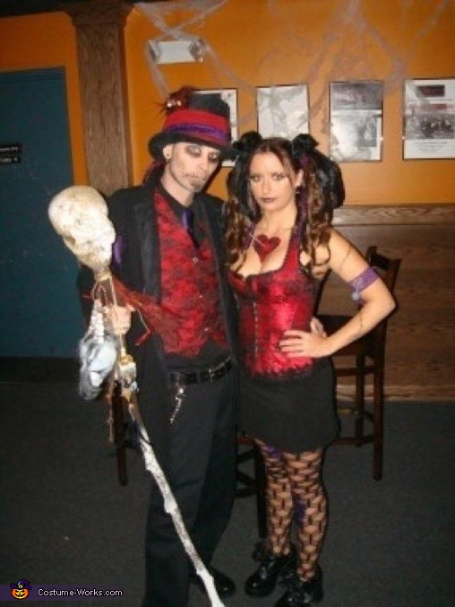 Complete outfit, Witch Doctor and Voodoo Doll Couple Costume
