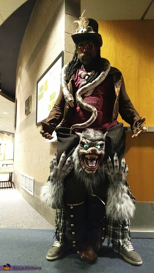 Witch Doctor riding a Werewolf Costume