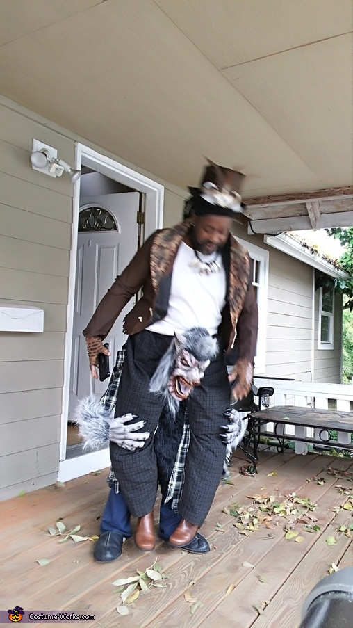 Witch Doctor riding a Werewolf Homemade Costume