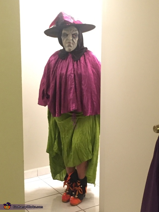 Witch over Graveyard Homemade Costume