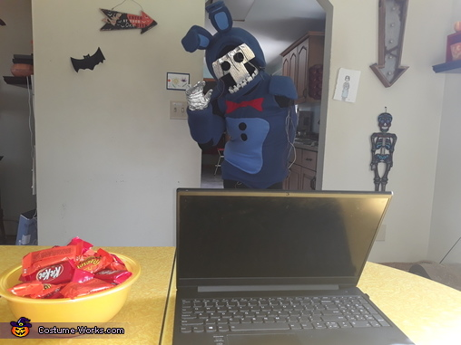 Withered Bonnie coming to your desk, Withered Bonnie Costume