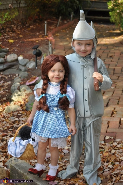 Dorothy and the Tin Man, Wizard of Oz Family Costume