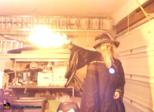 Shooting fire, Wizard Costume