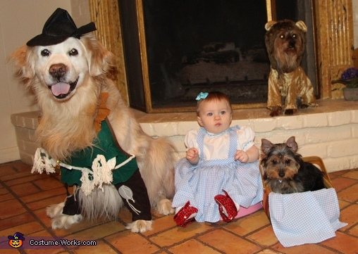 Wizard of Oz Baby and Dog Costume