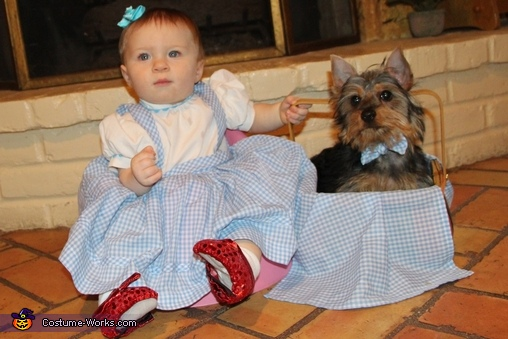 Dorothy & Toto, Wizard of Oz Baby and Dog Costume