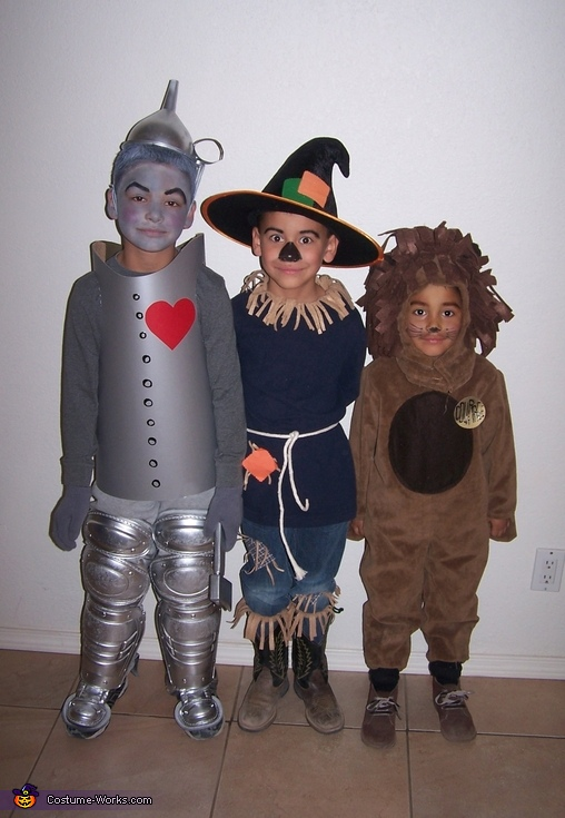 The Wizard of Oz costumes  Tin Man  Scarecrow and Cowardly LionWizard Of Oz Homemade Costumes