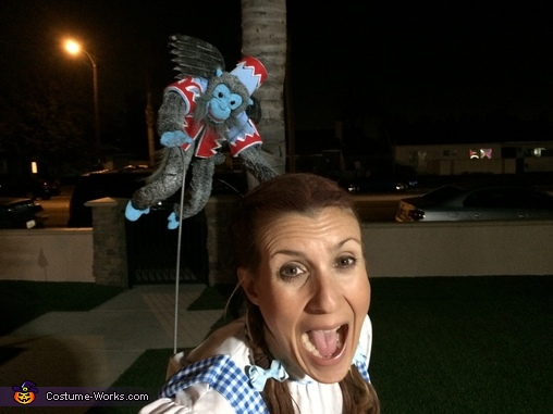 Monkey Attacking Dorothy, Wizard of Oz Costume