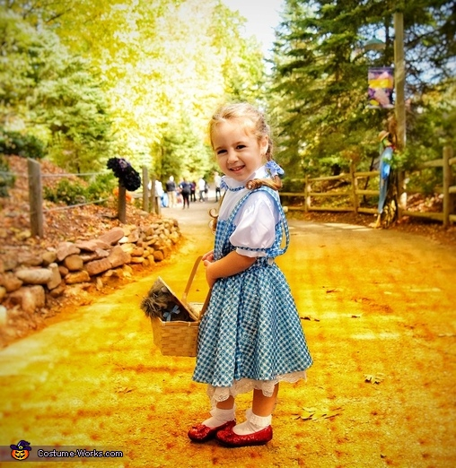 Finding her way on the yellow brick road!, Wizard of Oz Family Costume