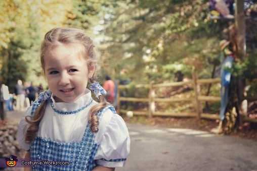 Dorothy (excited to be at the zoo), Wizard of Oz Family Costume