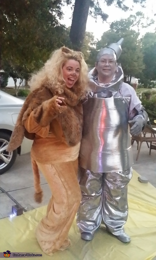 Cowardly Lion and Tin Man, Wizard of Oz Group Costume