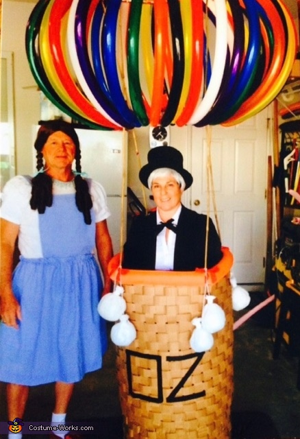 Wizard of Oz in a Hot Air Baloon & Dorothy Costume