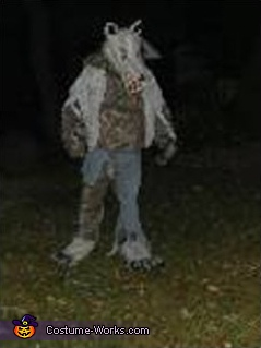 "This lil guy is the only ""Full-Body"" photo that the Wolfman has of himself., Wolfman Costume"