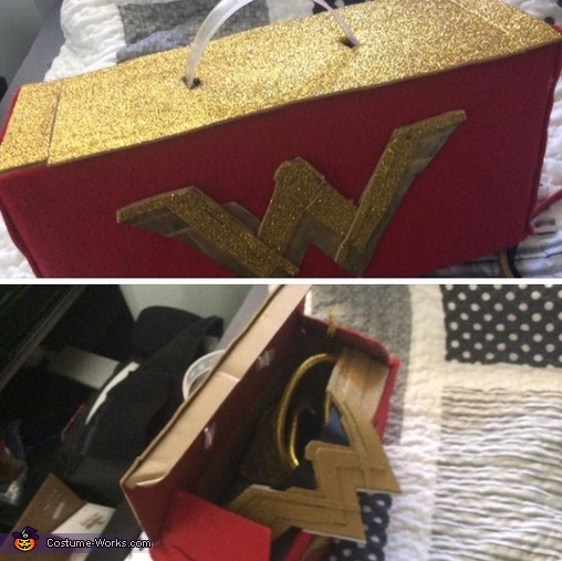 Her keepsake suitcase for her accessories, Wonder Woman Costume