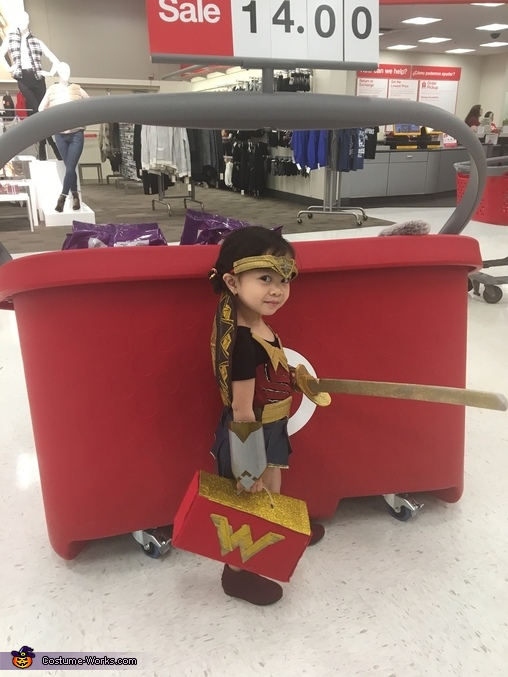 At Target trick or treat, Wonder Woman Costume