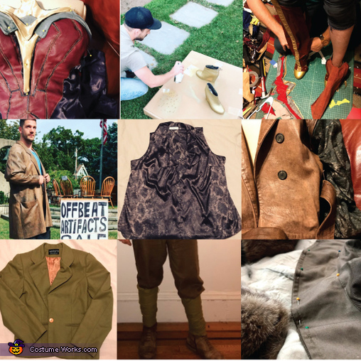 Before, After, and Process, Wonder Woman and Captain Steve Trevor Costume