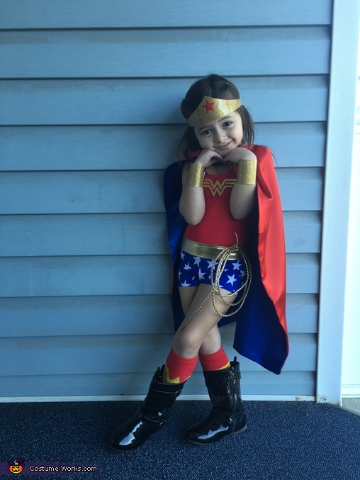 Wonder Woman Girl Homemade Costume