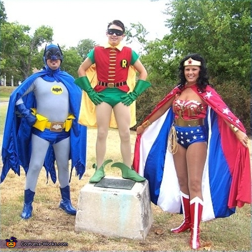 Wonder Woman, Batman and Robin - Homemade costumes for families