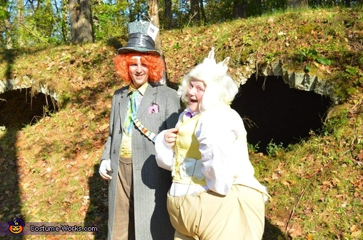 Mad Hatter and White Rabbit, Wonderland Group Costume