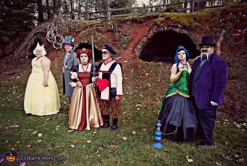 Wonderland group evening attire, Wonderland Group Costume