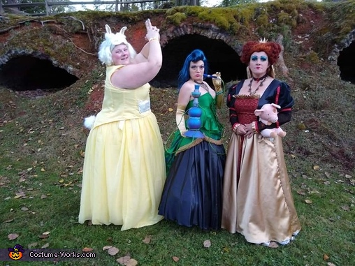Rabbit, Caterpillar, and Queen ready for the ball, Wonderland Group Costume