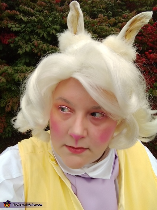 White rabbit make-up, Wonderland Group Costume