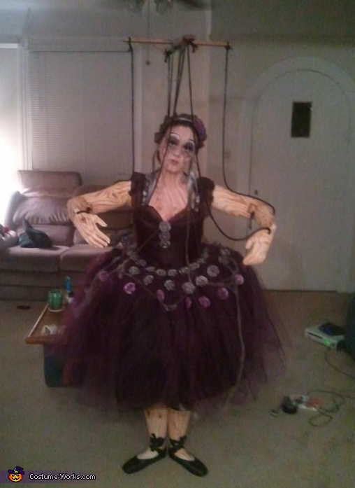 Wooden Marionette Puppet Costume