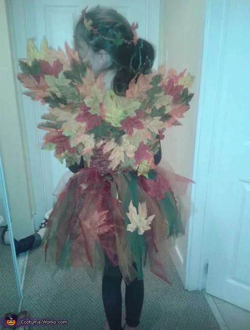 complete back view, Woodland Fairy Costume