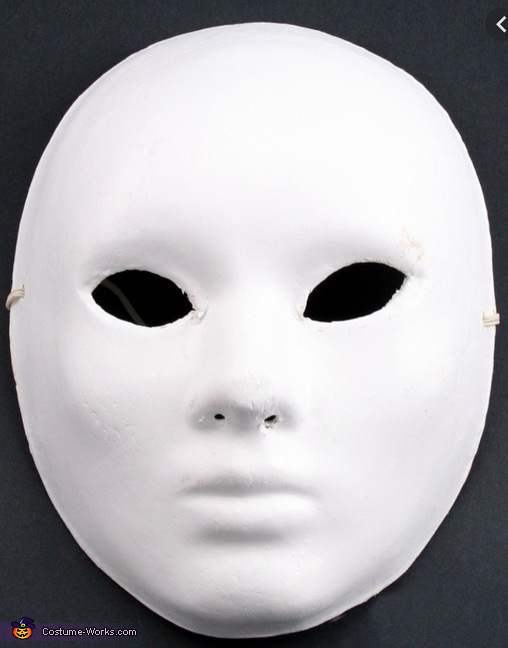 Starting with inexpensive paper maché mask from craft store, Woodland Fawn Creature Costume