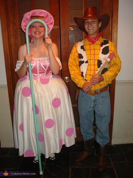 u0027Full Length Disneyu0027 Woody and Bo-Peep Coupleu0027s Costume. u0027  sc 1 st  Costume Works & Woody and Bo-Peep Coupleu0027s Halloween Costume - Photo 3/4