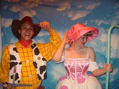 'Doll Poses', Woody and Bo-Peep Couple's Costume