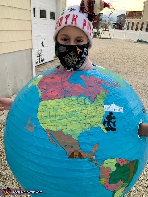 USA, World Globe Costume