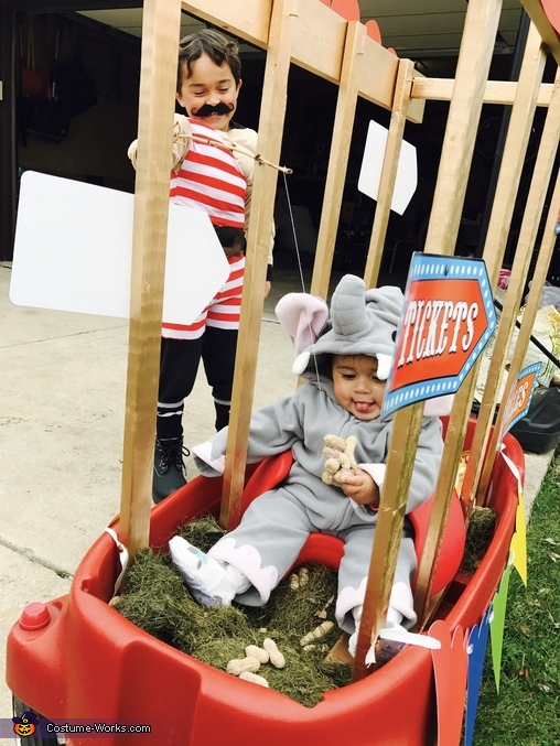 World's Strongest Man and his Circus Elephant Homemade Costume