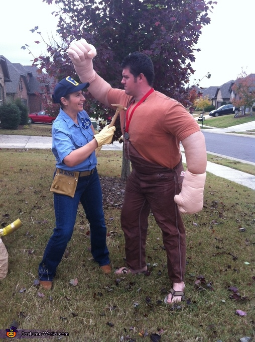 Ralph wrecking: Felix fixing, Wreck-It Ralph Characters Costume