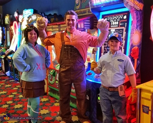 Wreck-It Ralph, Vanellope Von Schweetz and Fix-It Felix Jr. Costume