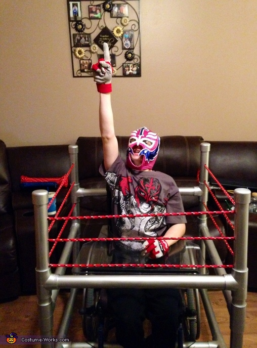 I think he liked it!, Wrestler in Ring Costume