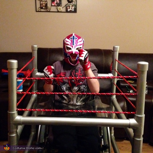Wrestler in Ring Costume