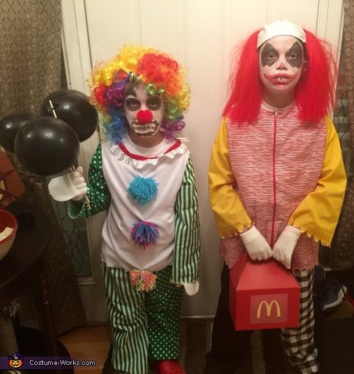 Just clowning around with Sis, Wrongald McDonald Costume