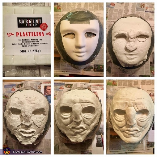 Sculpting the Face Form, Wun Wun the Giant from Game of Thrones Costume