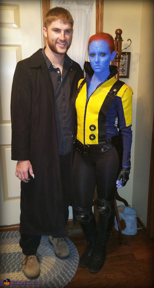 Myself and Sabretooth, Mystique from X-Men First Class Costume