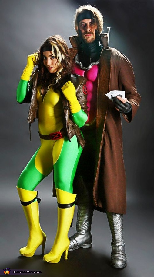 X-Men Rogue and Gambit - Homemade costumes for couples