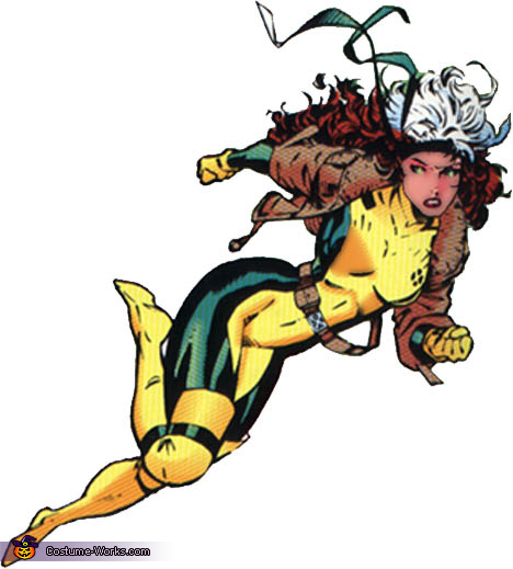 Rogue Comic Book Reference, X-Men Rogue and Gambit Costume
