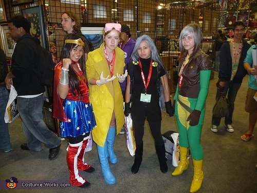 X,Men Superheroes Group Costume