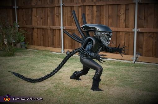 Little Sister Gracie Xenomorph, DIY Xenomorph Alien Costume