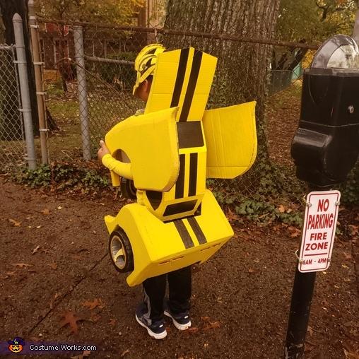 I'm wearing my car, Yellow Bumblebee Costume