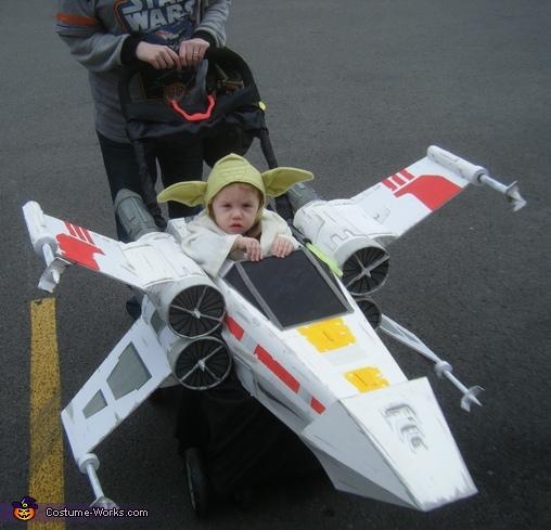 DIY Yoda Baby Costume