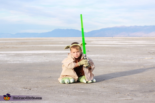 Yoda Boy Homemade Costume