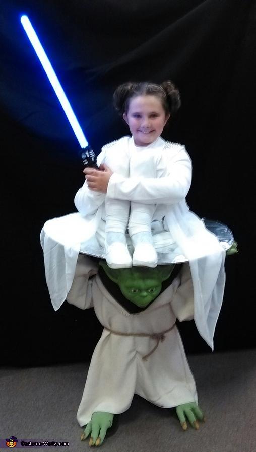 Yoda Carrying Princess Leia Homemade Costume