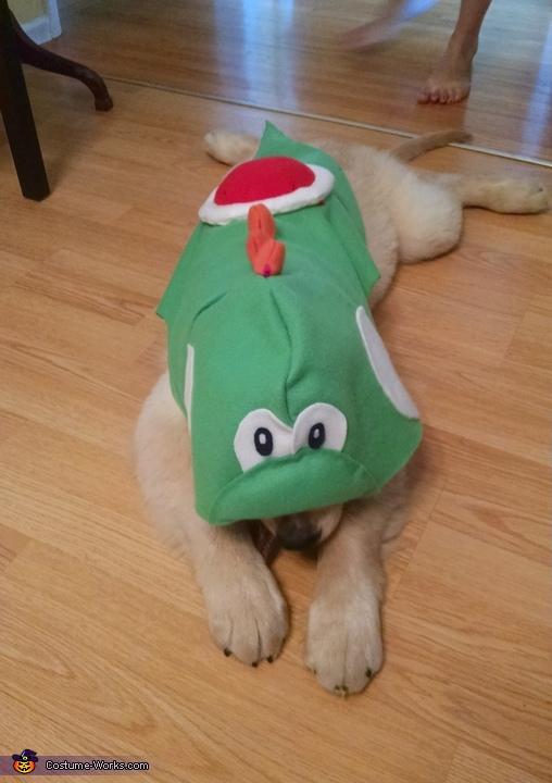 Yoshi front laying down, Yoshi Costume