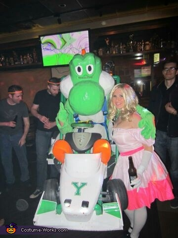 Yoshi Mario Kart with Star Power Costume